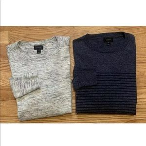 J.Crew Jumper Sweaters Men's Size S Lot Of Two